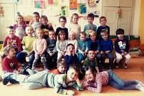 Děti z mateřské školy v Lužnici.