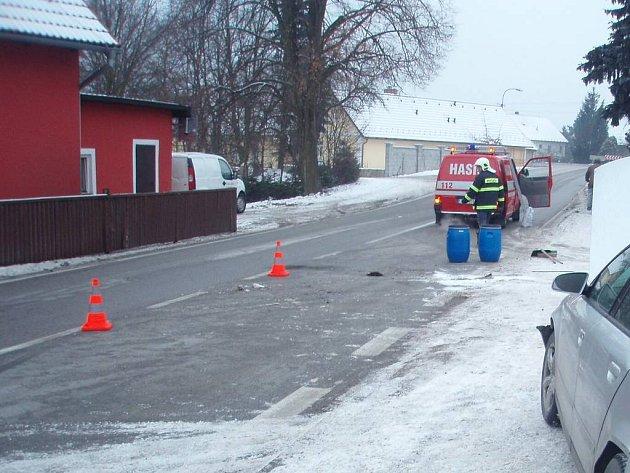 Zásah dobrovolých hasičů v Tušti u Suchdola nad Lužnicí.