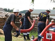 Ze života hasičů v Lomech.