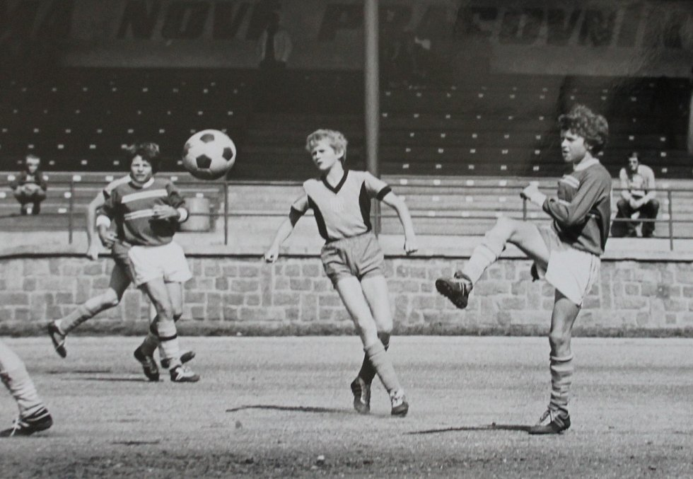 Fotbalista Libor Koller začínal v tehdejším jindřichohradeckém Slovanu. Po koci kariéry trénuje v pražském Tempu.