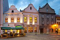Hotel Concertino - Zlatá Husa v Jindřichově Hradci.
