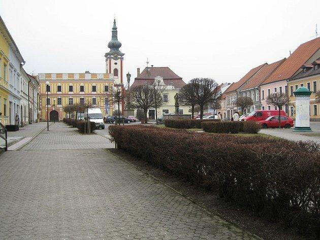 Nová Bystřice. Ilustrační foto náměstí.