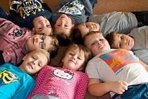 Žáci prvního ročníku ze základní školy v Budíškovicích.
