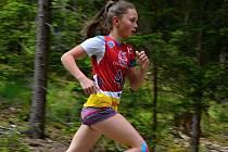 Staroměstská biatlonistka Anežka Poledníková zvítězila na domácí trati ve vytrvalostním závodě v kategorii žákyň do 14 let.