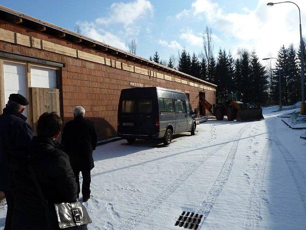 Rekonstrukce čističky ve Studené.