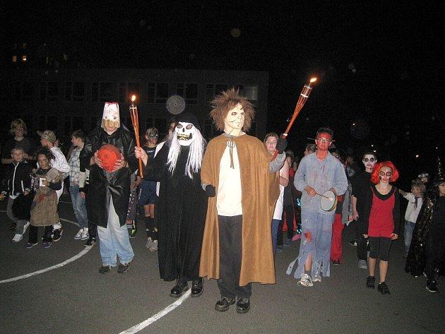 Halloween oslavili na 5. základní škole v Jindřichově Hradci.