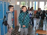 První školní den v 5. základní škole v Jindřichově Hradci.
