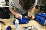 Unikátní pohyblivá socha, složená z dílů vytištěných na 3D tiskárnách, vzniká pod rukama týmu PETMAT podle návrhu autora Dominika Císaře.