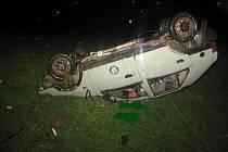 Dopravní nehoda u obce Klášter.