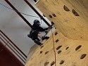 Na požární stanici v J. Hradci se konala Krajská soutěž ve sportovním lezení pro profesionální hasiče.