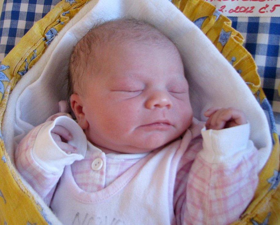 Adéla Makovičková z Lužnice se narodila 2. února 2012 Michaele a Petrovi Makovičkovým. Měřila 51 centimetrů a vážila 3 600 gramů.
