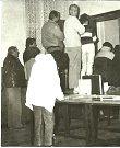 Listopadové události 1989 v Dačicích. Setkání občanů, zástupců nemocnice vedení města s OF.
