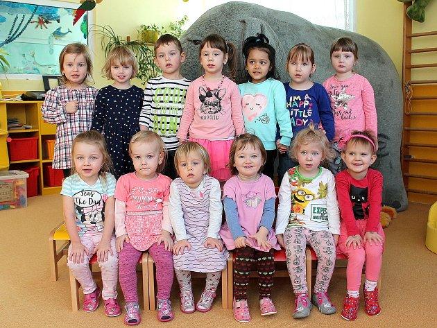 "3. mateřská škola ""UMerkuru"" na sídlišti Vajgar vJindřichově Hradci – třída Žabičky."