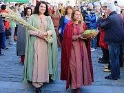 Sv. Václav přijel i to Třeboně, kde oslavili podzim jako čas hojnosti.