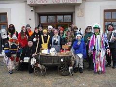 Maškary v sobotu vyrazily na průvod Suchdolem nad Lužnicí a Tuští.