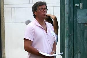 Antonín Kaška při zkoušce na jindřichohradeckém zámku.