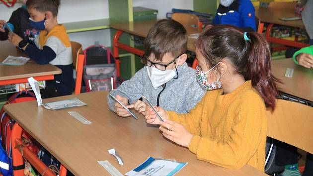 Testování školáků. Ilustrační foto.
