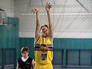 Basket Fio banka J. Hradec - nejmladší mini žactvo kategorie U11.