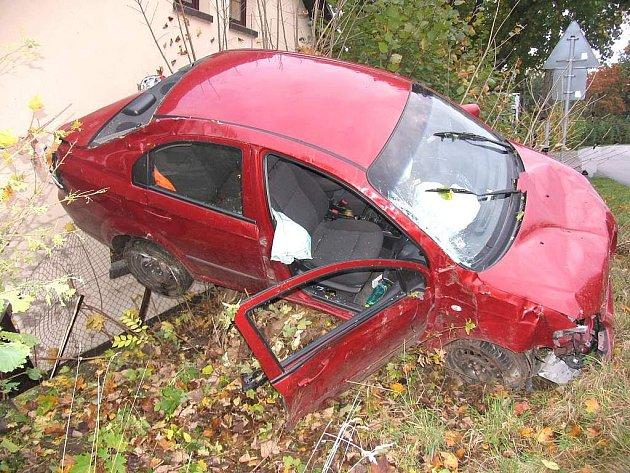 Dopravní nehoda v Mirochově.