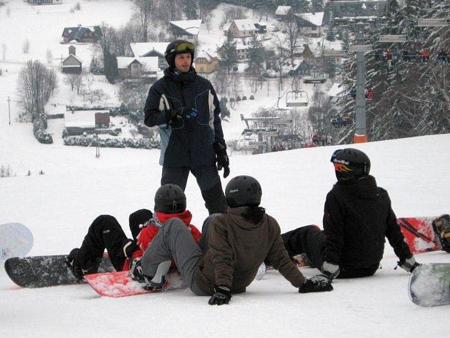 Gymnazisté prošli lyžařským výcvikem