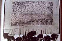 LISTINA z 15. století.