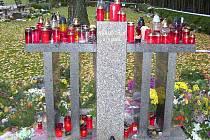Rozptylová loučka na jindřichohradeckém hřbitově.