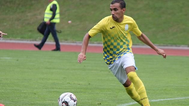 O jedinou trefu hradeckých fotbalistů se v utkání v Sedlčanech postaral Bachir Abderrabi.