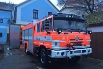 Nová cisterna dobrovolných hasičů v Lomnici nad Lužnicí.