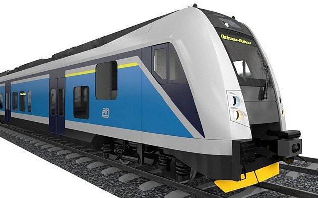 Speciální nízkopodlažní vlak Českých drah.