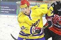 Útočník Denis Heldák se postaral o vítěznou trefu Vajgaru na ledě brněnské Techniky.