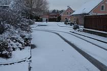 V pátek v Jindřichově Hradci konečně sněžilo.