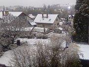 Takhle vypadá Sládkův kopec, když jej v zimě pokryje sníh.