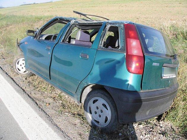 Dopravní nehoda v Lipolci.