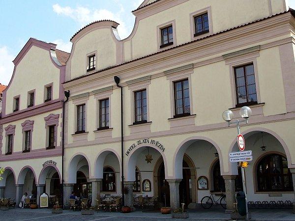Hotel Zlatá hvězda vTřeboni.