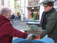 Prodej vánočních kaprů. Ilustrační foto.