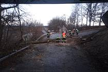 Ani úterní ráno nebylo pro hasiče klidné. Jednotka Sboru dobrovolných hasičů J. Hradec vyrážela v 7:06 do Dolní Radouně k padlému stromu.