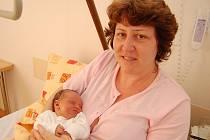 Barbora Matzkeová z Nové Včelnice, 5. ledna 2010, 3290 gramů, 47 cm