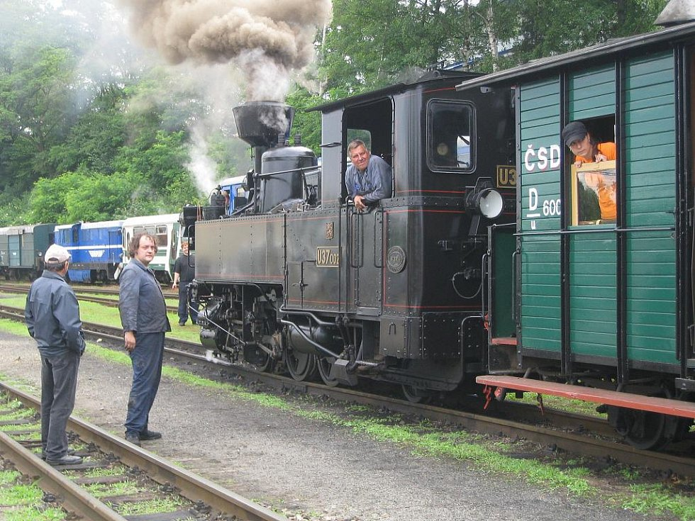 Jizda parním vlakem Českou Kanadou v sobotu 18. června 2011.