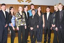 Účastníci Concertina Praga na jindřichohradecké starobylé radnici.