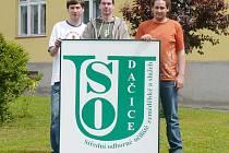 Na snímku jsou zprava Martin Musel, Jan Augstenov a  Josef Pokorný.