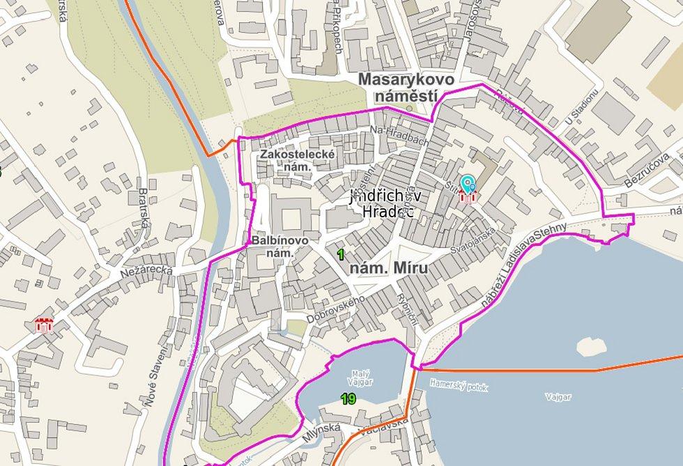 Interaktivní mapa s detaily o třicítce volebních okrsků v Jindřichově Hradci a místních částech.