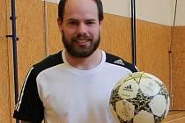 Hrající trenér dačických fotbalistů Jan Beneš.