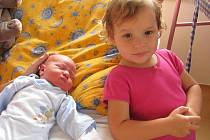 Jan Antonín Bahenský z Dolan, 27. října 2009, 4350 gramů, 52 centimetrů Na snímku se sestrou Annou