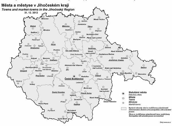města a městyse