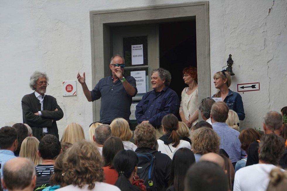 Zahájení Slavonice Festu 2021. Festival zahájil film Bourák v místním kulturním domě.