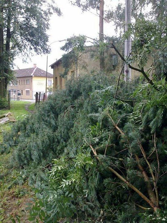 Řádění bouřky v Nové Včelnici.