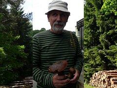 STRAROMĚSTSKÝ CHALUPÁŘ Luděk Urban z Jindřichova Hradce se vrátil s prvním houbařským úlovkem.
