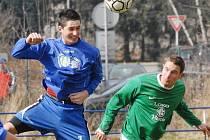 Momentka ze sobotního zápasu Třeboň - Vltavín.