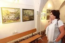 Vernisáž výstavy Alžběty Horynové z Červené Lhoty.