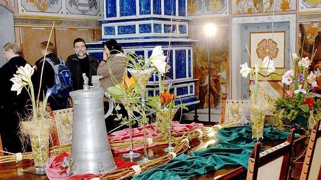 Amarylis na zámku v Třeboni.